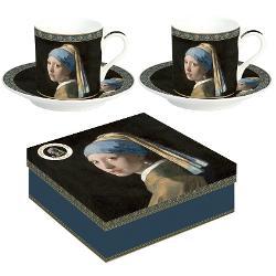 Set 2 cesti 75ml Vermeer fata cu cercel de perla R0169VER1