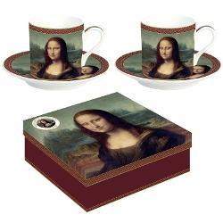 Set 2 cesti 75ml Leonardo Da Vinci Mona Lisa R0169LEO1