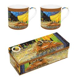 Set 2 cani portelan 0300l Van Gogh cafe at night R0171VAN2
