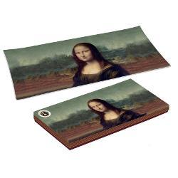 Platou sticla Leonardo Da Vinci Mona Lisa 36x17cm R0637LEO1