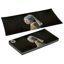 Platou sticla Vermeer fata cu cercel de perla 36x17cm R0637VER1