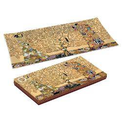Platou sticla Klimt pomul vietii 36x17cm R0637KLI2