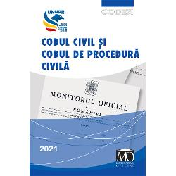 Carte recomandat&259; deUniunea Na&539;ional&259; a Notarilor PubliciData aparitiei14 aprilie 2021- Format 130 x 200 mm 1088 paginiEditura Monitorului Oficial prima &537;i cea mai sigur&259; surs&259; legislativ&259; in parteneriat cu Uniunea Na&539;ional&259; a Notarilor Publici a realizat edi&355;ia aprilie 2021 a c&259;r&539;ii Codul civil &537;i Codul de procedur&259;