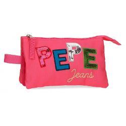 Penar 3 compartimente Pepe Jeans Kim roz 62143.21 imagine librarie clb