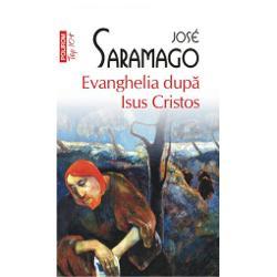 Celebra Evanghelie dupa Isus Cristos cel mai polemic roman al lui Jose Saramago reconstruieste o viata apocrifa a lui Isus si alege drept teme de studiu vina si responsabilitatea Desi fusese instiintat ca se pregatea masacrul pruncilor Iosif isi salveaza doar propriul copil devenind prin omisiune complicele crimei lui Irod Inseparabil de diavol umbra si acolitul sau Dumnezeu nu ezita sa-si condamne la moarte unicul fiu pentru a-si satisface nemarginita sete de putere care dupa