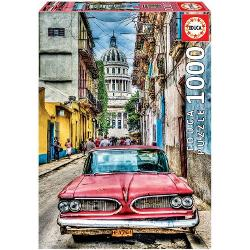 Puzzle 1000 piese vintage car in old havana 16754 imagine librarie clb