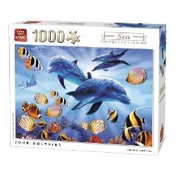 Puzzle 1000 piese Four Dolphins KG05666 imagine librarie clb