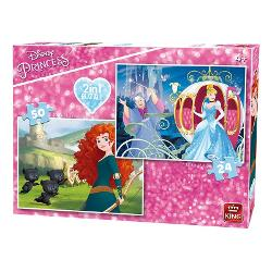 PUZZLE 2 IN 1 PRINCESS BRAVE/CINDARRELA KG05416 imagine librarie clb