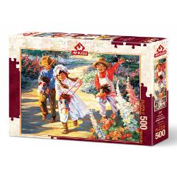 PUZZLE 500 PIESE - GIDDY UP! -CORINNE HARTLEY AP5084 imagine librarie clb