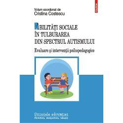 Abilit&259;&539;ile sociale sînt un set de comportamente &537;i cuno&537;tin&539;e specifice indispensabile în dezvoltarea &537;i cre&537;terea capacit&259;&539;ii de adaptare la mediu a oric&259;rei persoane Dezvoltarea lor este cu atît mai important&259; în cazul persoanelor cu tulburare din spectrul autismului ale c&259;ror interac&539;iuni sociale sînt îngreunate &537;i necesit&259; sprijin suplimentar atît din partea
