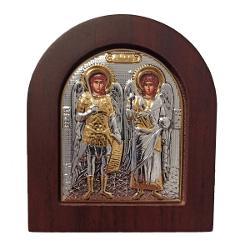 Icoana Argint Mihail si Gavril 81×96x2cm AuriuDimensiuni 81×96x2cm