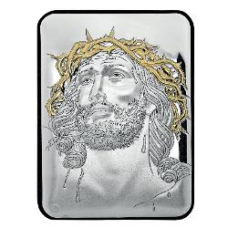 Icoana Argint Iisus Hristos Coroana Spini 10X14Cm