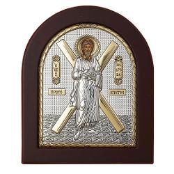 Icoana Argintata cu Sfantul Apostol Andrei Este fabricata in Grecia Are aplicat Sigiliul Producatorului 11×13 cm Suport de birou si sistem de prindere pe perete