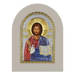 Icoana Argint Isus 14×10 cm Color Rama Alba Contine cutie de cadou