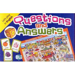 Level A2-B1RULES OF THE GAMEThe game can be played in class as a didactic tool for linguistic revision and consolidation and at home with friends as a board gameThe cards are shuffles and dealt evenly amongst the players The youngest player starts by rolling the die and depending on the interrogative shown formulates a questions to the player on hisher left who must guess his card The player to the left after having answered then throws the die and asks a question