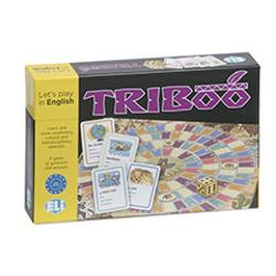 WHAT IS ITTriboo is a useful and challenging game based on the exchange of questions and answers using keywords and clues to guess in the English languageLANGUAGE AIMSThe game allows students to learn and revise vocabulary cultural and interdisciplinary elements of the English languageCONTENTSThe game includes 132 cards divided into