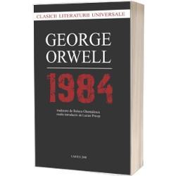 Unul dintre romanele-cult ale secolului XX 1984 figureaza si azi intre bestsellerurile internationale iar aceasta constanta se datoreaza legaturii intre povestea distopica imaginata de Orwell si mutatiile din organizarea societatii umane in ultimul veac iar statisticile de vanzare valideaza o teorie de filosofia limbajului puterea asupra cuvintelor poate fi folosita de politic pentru a mentine oamenii intr-o stare de precaritate culturala Falsificarea exagerarea dramatizarea sunt toate