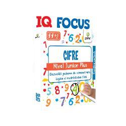 IQ FOCUS • CIFRE JUNIOR PLUSajut&259; copilul s&259;-&537;i îmbun&259;t&259;&539;easc&259; aten&539;ia &537;i implicit s&259;-&537;i dezvolte perseveren&539;a &537;i puterea de concentrare Cele 40 de fi&537;e refolosibile antreneaz&259; spiritul de observa&539;ie dar î&537;i dezvolt&259; &537;i motricitatea fin&259; exersând &539;inerea corect&259; a instrumentului de scris În plus tematica aleas&259; îl