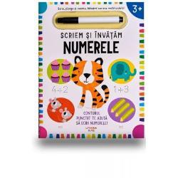 Aceasta carte interactiva ii familiarizeaza pe copii cu numerele intr-un mod distractiv si creativ Activitatile ii invata pe cei mici sa numere pana la 20 le imbunatatesc coordonarea mana-ochi si ii ajuta sa-si dezvolte abilitatile simple de calculFoloseste sirul numeric din partea de sus a fiecarei pagini pentru a-ti ajuta copilul sa numere crescator sau descrescatorPaginile cartii iti permit sa scrii si sa stergi ori de cate ori doresti cu ajutorul unui servetel sau a