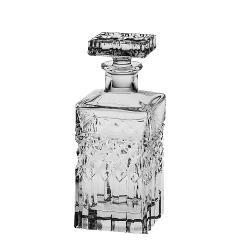 Carafa  decanter  decantor model Harry din Cristal de Bohemia cu 24 PbO Volum sticla 700 ml