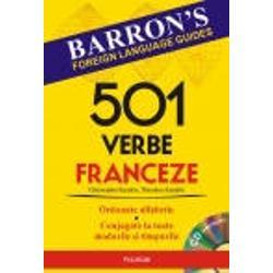 Lucrarea propune invatarea limbii franceze prin metoda Barron simpla si dinamica   In carte veti gasi    501 verbe fundamentale ale limbii franceze ordonate alfabetic conjugate la toate modurile si timpurile   Expresii si propozitii cu cele 501 verbe   Auxiliarele avoir si etre si utilizarea lor in formarea timpurilor compuse   Peste 2600 de verbe care se conjuga dupa modelul celor 501   Un index al verbelor neregulate    55 de verbe esentiale ale limbii franceze expresii si