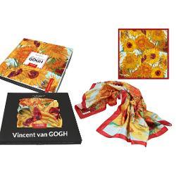 Esarfa Van Gogh sunflowers 90x90cm 0239020