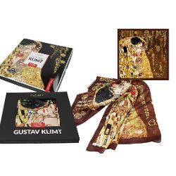 Esarfa Klimt kiss 90x90cm 0239001