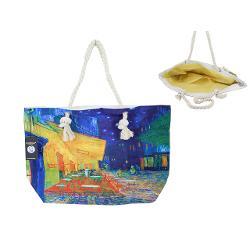 Geanta plaja Van Gogh cafe at night 56x37cm 0219213
