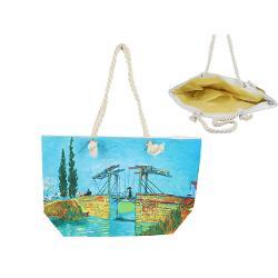 Geanta plaja Van Gogh podul Langlois din Arles 56x37cm 0219212