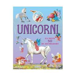Cauta si lipeste UnicorniCu aceasta carte vei pasi in frumoasa lume a unicornilorCauta abtibildurile si completeaza ilustratiileCartea are peste 50 de abtibilduri