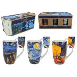 Set 3 cani Van Gogh - noapte instelata cafe at night noapte instelata peste rhone 350ml 8301601