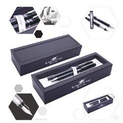 Set pix si stilou negru fildes, accessorii chromat , carcasa neagra cu interior alb, DPC-16-4465