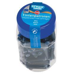 Patroane cerneala albastre-100 bucborcan Culoare albastru  Ambalaj borcan din plastic Produs de Toppoint-Germania