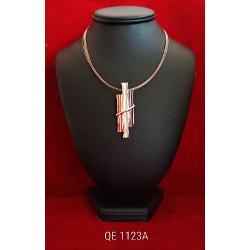 Colier zamac aurit aur roz 42 7cm qe1123a