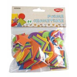 84 bucati forme geometrice; material - spuma coala gumata; dimensiuni variabile - maxim 45cm