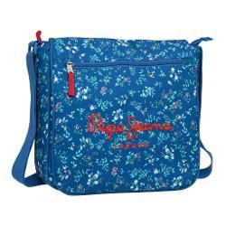 Geanta umar Pepe Jeans Vicky 32 cm cu compaartiment special pt laptop buzunar exterior imprimeu floral confectionat din poliester bareta ajustabila