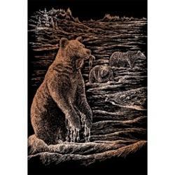 Set gravura pe folie din cupru - Ursi grizliSet de gravura de la Royal Langnickel oferta modalitatea cea mai usoara de a deveni un artist Este necesar doar sa utilizati instrumentele incluse in acest set de gravura pentru a scoate la suprafata imagini extraordinare gravate pe un fond aramiu Avand un model deja pretiparit reusita proiectului este garantata La