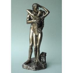 WU76717 Imbratisati statueta polystone din colectia Limbajul trupului 28cm ambalaj cadou din carton colorat