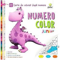 """Numero Color Juniorcontine desene simple pentru care sunt suficiente 5 culori si urmareste recunoasterea numerelor de la 1 la 5 Pentru o complexitate sporita va recomandamNumero Color Junior PlussiNumero Color InitiatCartile de colorat sunt mai mult decat simple foi cu desene care impreuna cu o cutie de creioane tin copilul """"ocupat minute"""