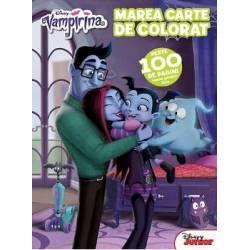 Marea carte de colorat Disney Vampirina ate peste 100 de pagini cu activitati atractive • pagini de colorat • uneste punctele si coloreaza • rezolva labirintul • gaseste diferentele • coloreaza folosind codul de culori • gaseste umbra • gaseste cuvintele • rezolva sirul logic • numara obiectele etc