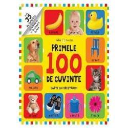 Aceasta carte cu 100 de notiuni din vocabularul de baza si peste 35 de ferestre care ascund cuvinte si informatii noi este perfecta pentru cei mici care invata sa vorbeasca si care abia acum descopera lumea si obiectele din jurul lor
