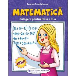 Culegerea de matematic&259; pentru clasa a III-a este elaborat&259; conform programei &537;colare în vigoare Lucrarea respect&259; succesiunea lec&539;iilor din noile manuale &537;i este util&259; atât elevilor cât &537;i cadrelor didactice &537;i p&259;rin&539;ilor Con&539;inuturile culegerii sunt ordonate progresiv pe niveluri diferite de dificultate având rolul de a dezvolta competen&539;ele specifice dar &537;i gândirea logic&259; &537;i