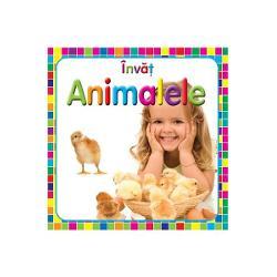 O carte cu file cartonate cu ajutorul careia cei mici pot invata cu usurinta animalele