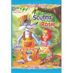 Colectia Povesti Bilingve este special conceputa pentru copiii care invata sa citeasca intr-o limba straina Textul este adaptat gradului de intelegere al micilor cititori propozitiile sunt scurte cuvintele – cunoscute iar dimensiunea caracterelor usureaza lecturaCitind povestile cunoscute si indragite copiii isi imbogatesc vocabularul si isi exerseaza cunostintele de limba engleza cu ajutorul personajelor preferate Textul Scufita Rosie Little Red Riding Hood este