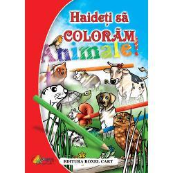Haideti sa coloram - AnimaleIlustrator  Nicoleta IonescuFormat  A 4 Numar pagini  64 An aparitie  2011 Editura  Roxel Cart