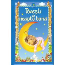 Volumul Pove&351;ti de noapte bun&259; adun&259; laolalt&259; pove&351;ti minunate din literatura universal&259; dar &351;i din cea româneasc&259; Personaje mult-îndr&259;gite – precum Scufi&355;a Ro&351;ie Harap-Alb Cenu&351;&259;reasa Hansel &351;i Gretel Rapunzel sau Dege&355;ica – îi vor purta pe cei mici prin lumi de basm în c&259;l&259;toria lor spre t&259;râmul viselor Textele au fost adaptate dup&259;