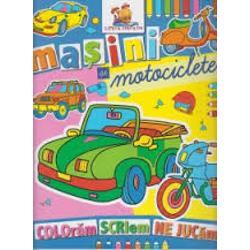 Coloreaza masinile pe care le vezi pe stradaCartea este in format A4 avand o calitate grafica deosebita fiind imprimata pe hartie rezistenta potrivita pentru cei mici