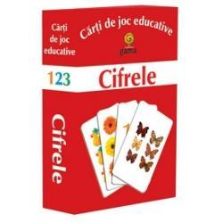 Pachetul con&539;ine ·10 de carduri cu numerele de la 1 la 10; · 40 de carduri cu elemente buline animale fructe &537;i legume ma&537;ini Scopul jocului este înv&259;&539;area numerelor de la1 la 10 aflarea vecinilor numerelor &537;i compararea lor