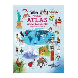 Marele atlas ilustrat pentru copii imagine librarie clb