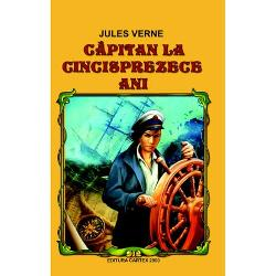 Capitan la cincisprezece ani este un roman de aventura James Weldon trebuie sa paraseasca Noua Zeelanda pentru a incheia o importanta afacere la San Francisco Si de aici imprevizibilul